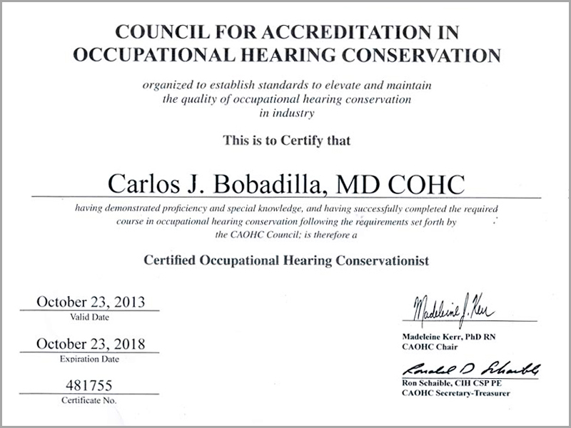 Caohc Certification Images Certificate Design Template Free
